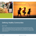 Defining Healthy Communities Cover